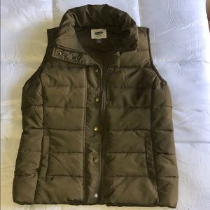 Olive Green Puffy Vest